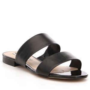 NWOT Karl Lagerfeld Alkali slide sandals - black